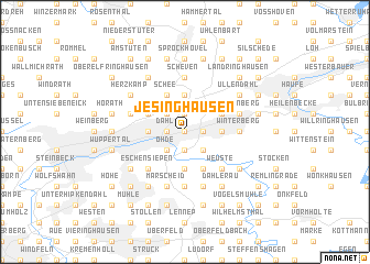 map of Jesinghausen