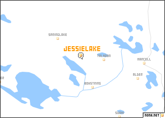 map of Jessie Lake