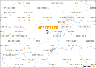 map of Jestetten