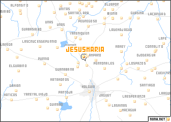 map of Jesús María