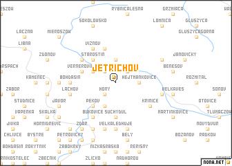 map of Jetřichov