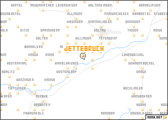 map of Jettebruch