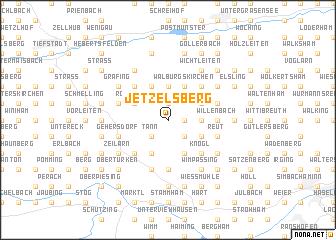 map of Jetzelsberg