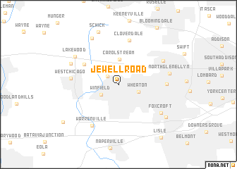 map of Jewell Road