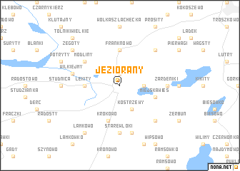 map of Jeziorany