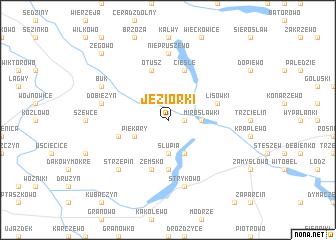 map of Jeziorki