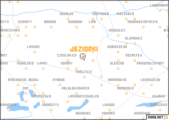 map of Jeziorki