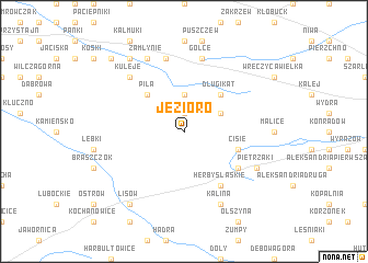map of Jezioro