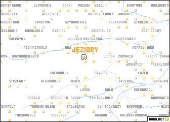 map of Jeziory