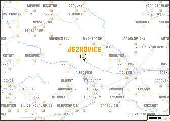 map of Ježkovice