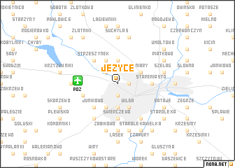map of Jeżyce