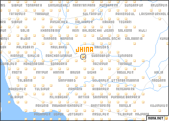 map of Jhina