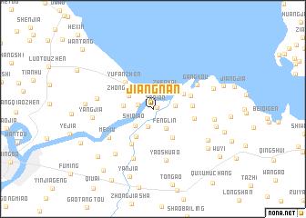 map of Jiangnan