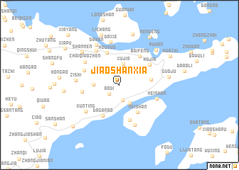 map of Jiaoshanxia