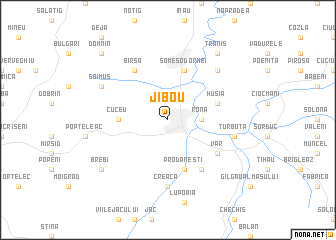 map of Jibou