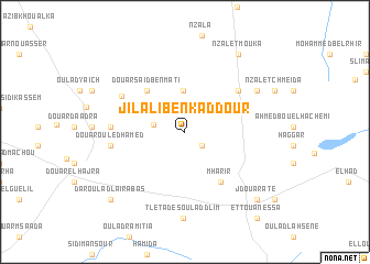 map of Jilali Ben Kaddour