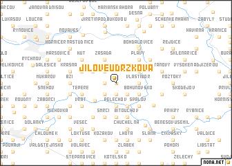 map of Jílové u Držkova