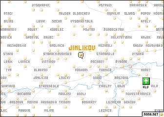 map of Jimlíkov