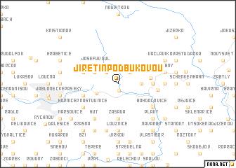 map of Jiřetín pod Bukovou