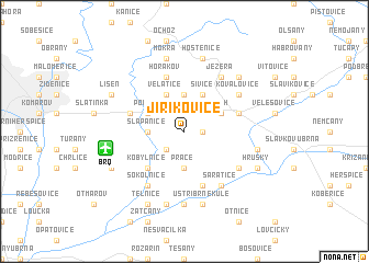 map of Jiříkovice