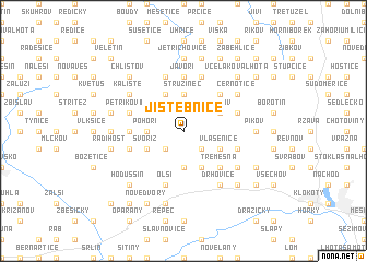 map of Jistebnice