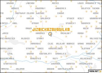 map of Jizbická Zavadilka