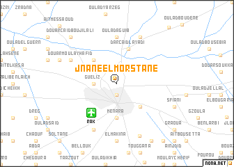 map of Jnane el Morstane