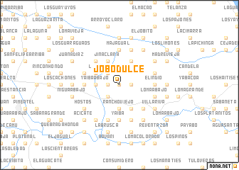 map of Jobo Dulce
