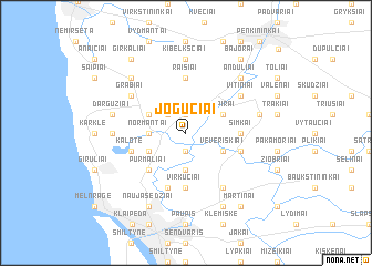 map of Jogučiai