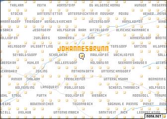 map of Johannesbrunn