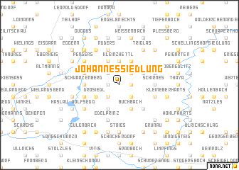 map of Johannessiedlung