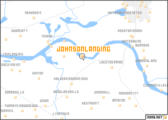 map of Johnson Landing