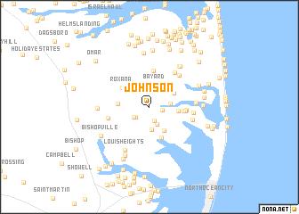map of Johnson