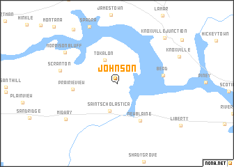 map of Johnson