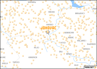 map of Johovac
