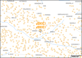 map of Jokići