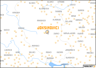 map of Joksimovići