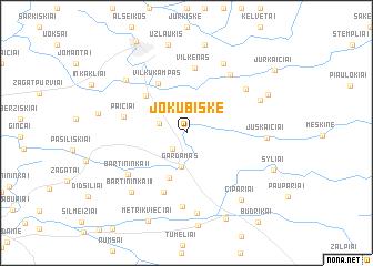 map of Jokūbiškė