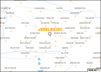 map of Jonelaičiai I