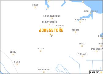 map of Jones Store