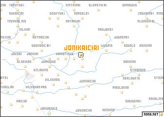 map of Jonikaičiai