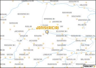 map of Joniškaičiai