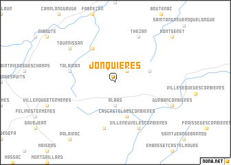 map of Jonquières