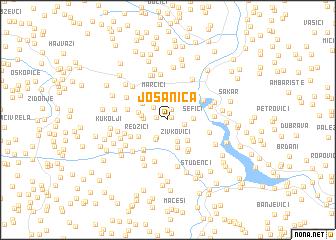 map of Jošanica