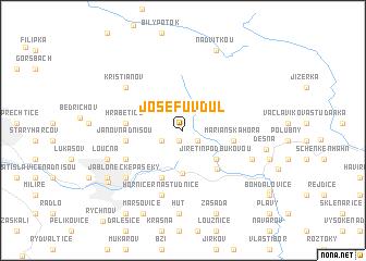 map of Josefŭv Dŭl