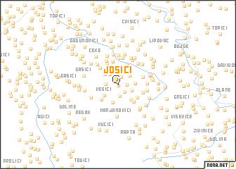 map of Josići