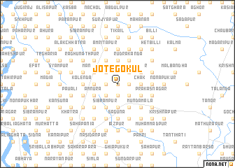 map of Jote Gokul