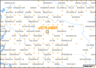 map of Jote Jiban