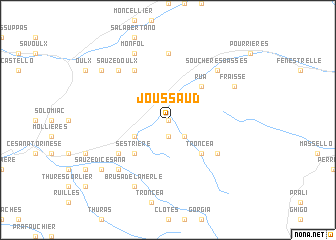 map of Joussaud