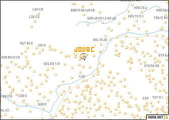 map of Jovac